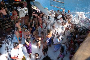 Foam Party in Pirate Ship
